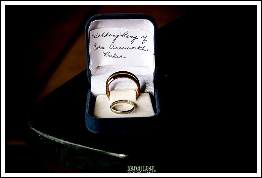 family heirloom ring for bride