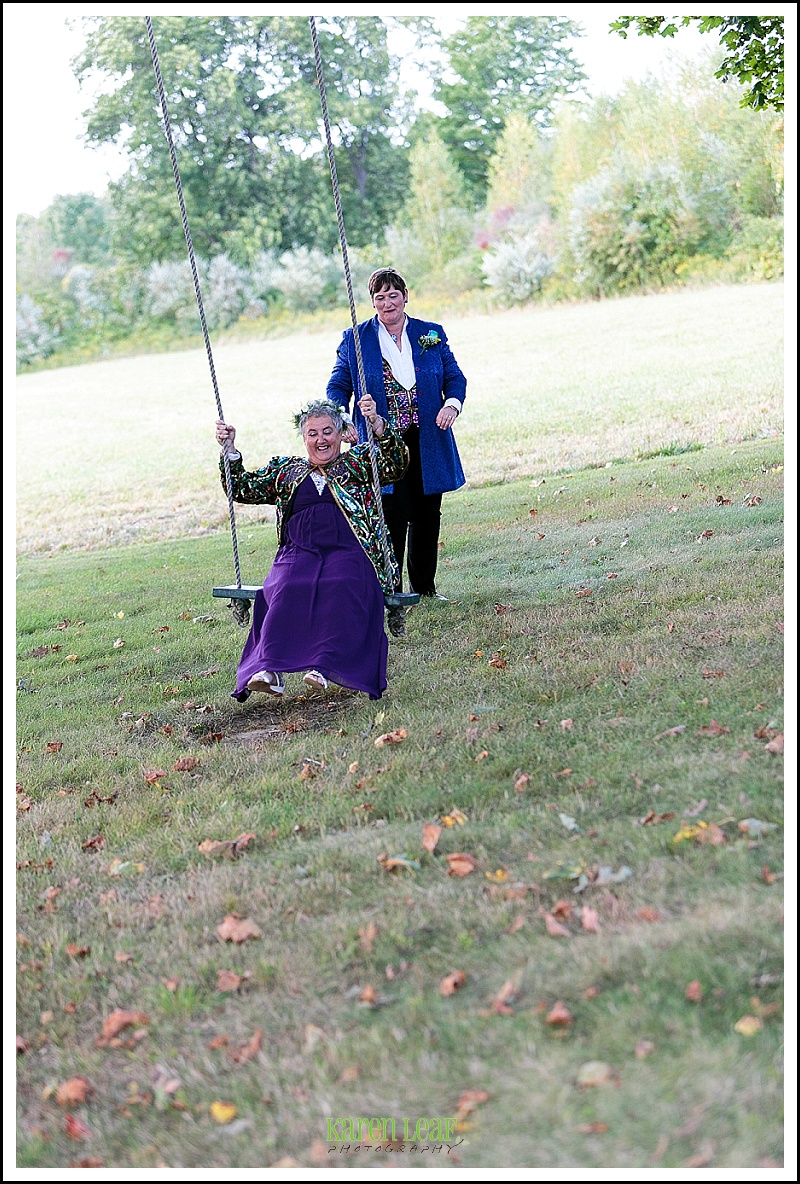 wedding pictures on swing