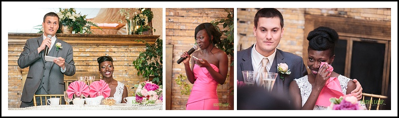 Wedding toasts by sister and brother