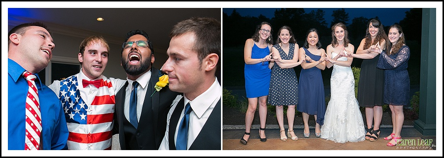 good friends at wedding photo