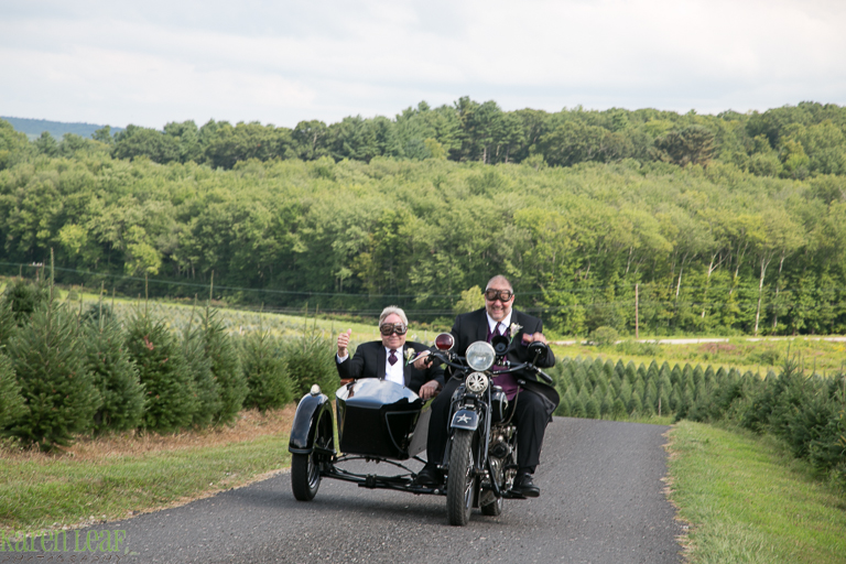 Indian motorcycle bringing groom to wedding-4
