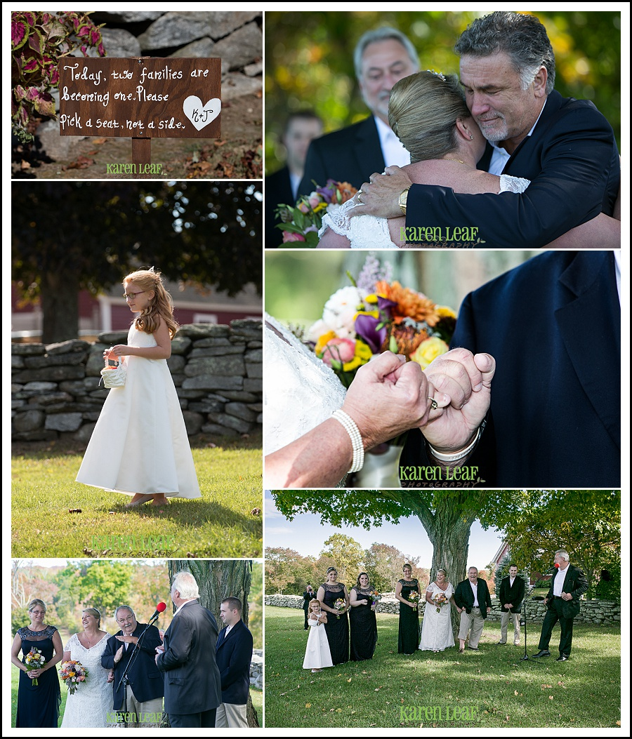 humorous wedding ceremony at golden lamb buttery