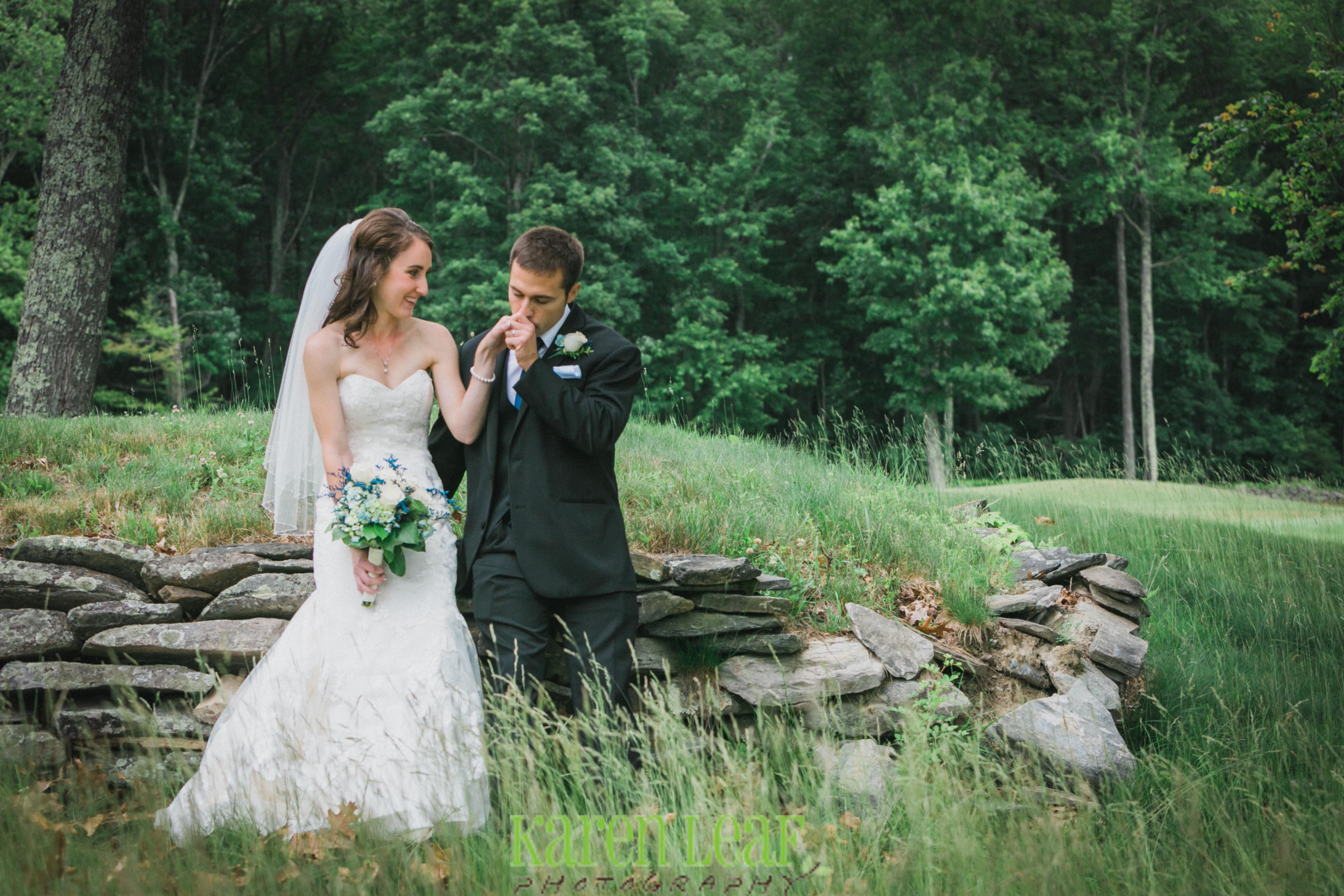 Romantic walk around after wedding