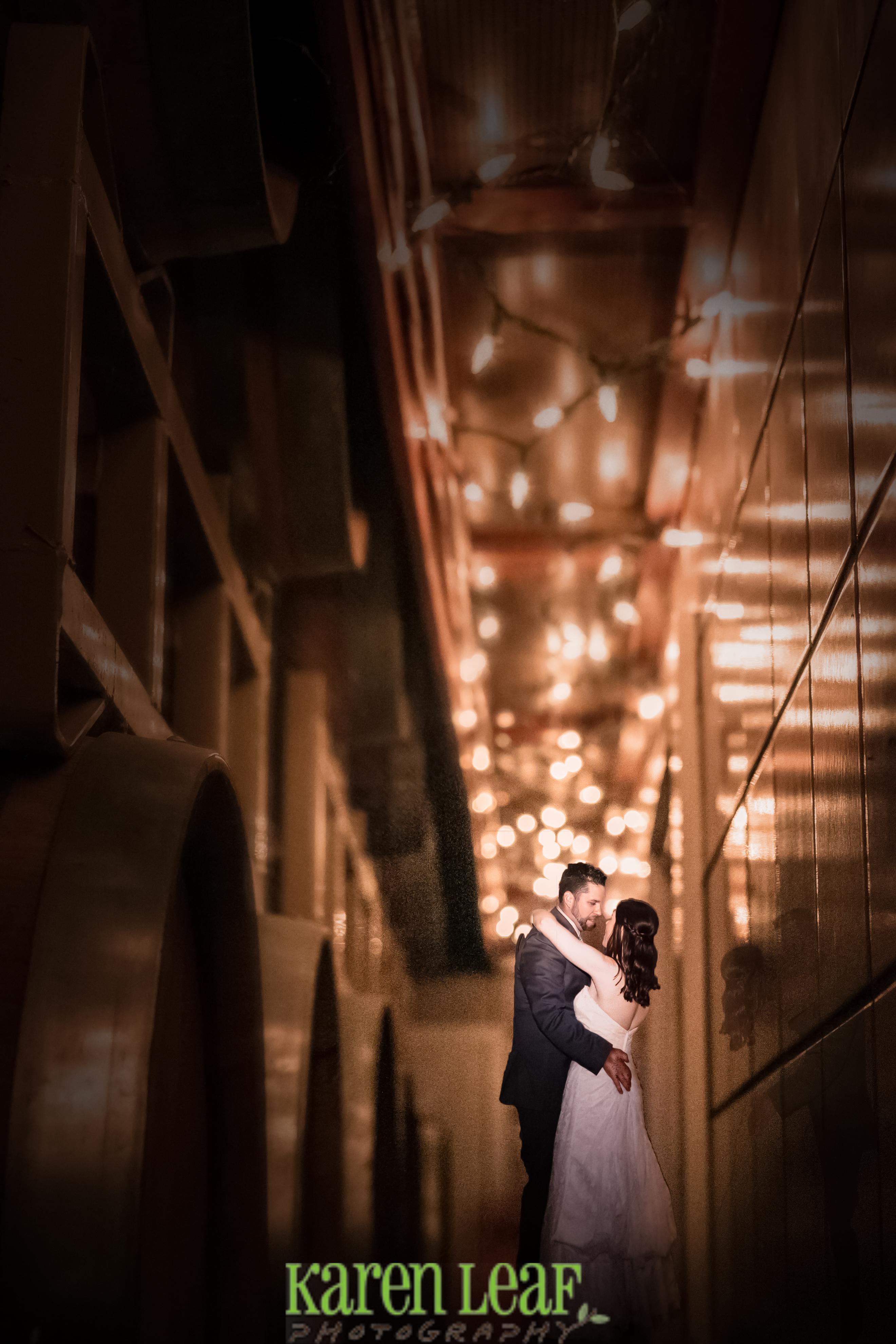 A stolen moment at their wedding
